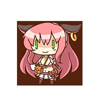 Settsu Ushika chibi