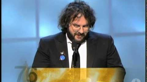 "Peter Jackson winning an Oscar® for ""The Lord of the Rings The Return of the King"""