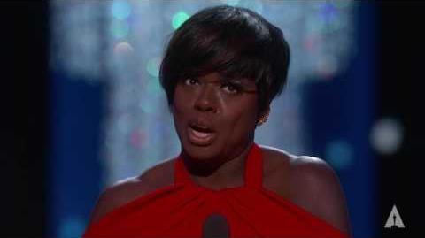 Viola Davis winning Best Supporting Actress