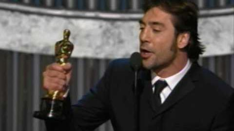 Javier Bardem winning Best Supporting Actor