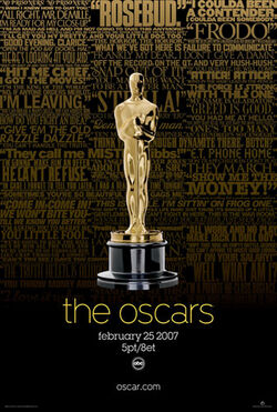 79th Academy Awards ceremony poster