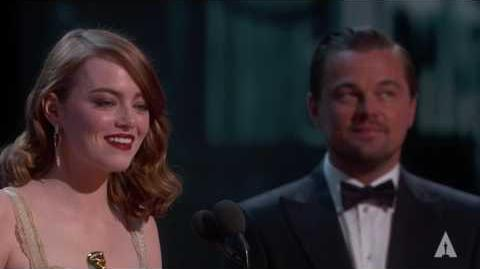 Emma Stone Winning Best Actress