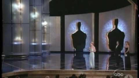 "Helen Hunt winning an Oscar® for ""As Good As It Gets"""