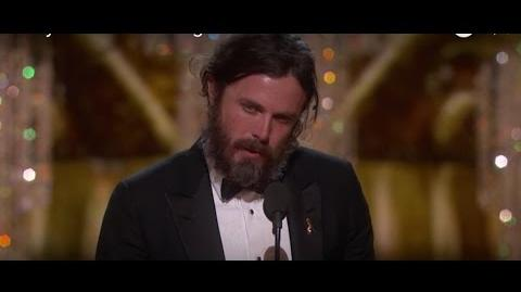 Casey Affleck winning Best Actor