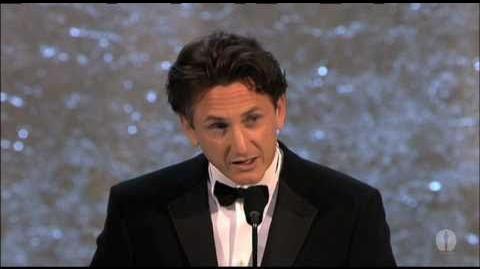 "Sean Penn winning an Oscar® for ""Mystic River"""