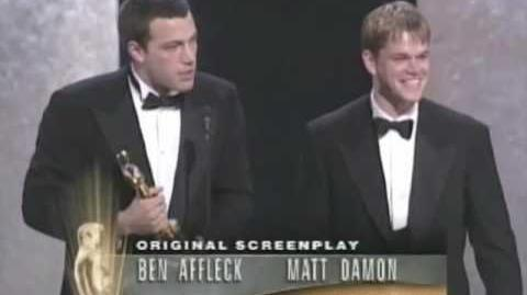 Ben Affleck and Matt Damon winning an Oscar®