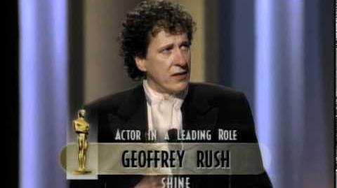 Geoffrey Rush winning Best Actor
