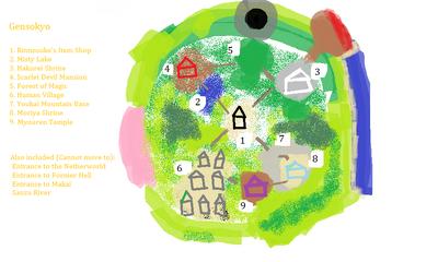 Touhou Grail Wars Emotional Dreams Map