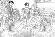 The host club dressed in princes and princesses