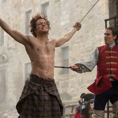 Jamie Fraser (Sam Heughan); Captain Black Jack Randall (Tobias Menzies)