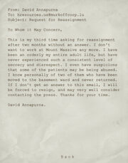 Request for Reassignment