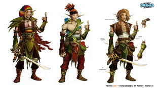 Elf Warriors Concept Art