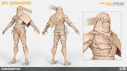 Genji (Bedouin skin) high-poly turnaround (By Renaud Galand)