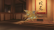 Genji malachite golden shuriken
