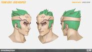 Young Genji's Head high-poly turnaround (By Renaud Galand)