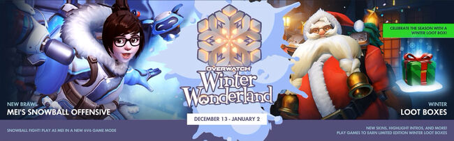 Winter wonderland banner
