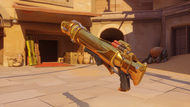 Pharah titanium golden rocketlauncher
