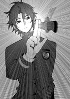 LN Guren catches Shinoa's knife