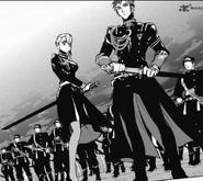 Kureto and Aoi ready to fight