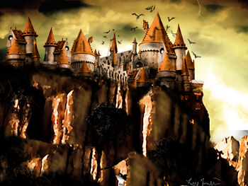Castle of the wicked witch by ginovanta-d4b9ro8