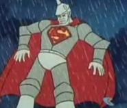 11 - Superman turns his tin body to lead