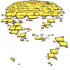 Yellow Brick Road by Skottie Young.