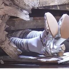 Silver Shoes on Dorothy for <i>The Wiz</i> play.