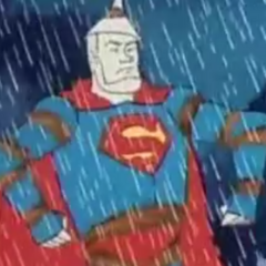 Superman rusts in