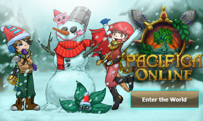 Pacifica Online - Login Screen - Christmas 2012