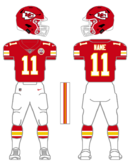 Chiefs color uniform