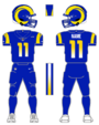 Rams color uniform
