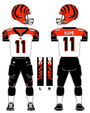 Cincinnati Bengals white uniform