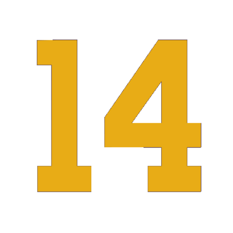 File:Packers retired number 14 white.png