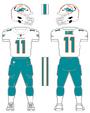 Miami Dolphins road uniform 2013