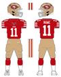 49ers color uniform