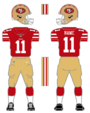49ers color uniform