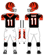 Cincinnati Bengals color uniform