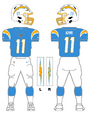 Chargers color uniform