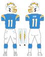Chargers color uniform