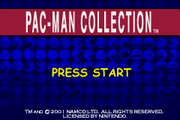 Pac-Man Collection title screen
