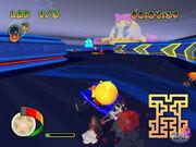 Retro maze racing course