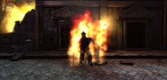 Fire spectre with visible body idle