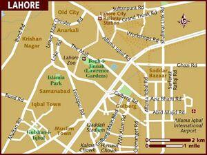 Pakistan Map Lahore 001