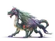 Crystal dragon by njoo-d3ef1dz