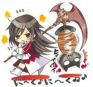 Alice dragging Mochizuki
