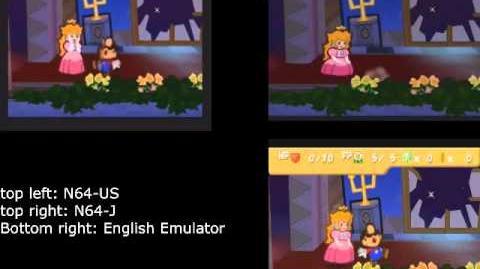 Paper Mario Version Testing