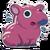 Sticker tapirpink