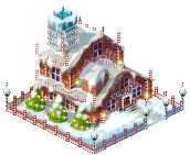 Xmas santa house
