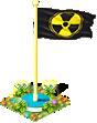 Flag radioactive