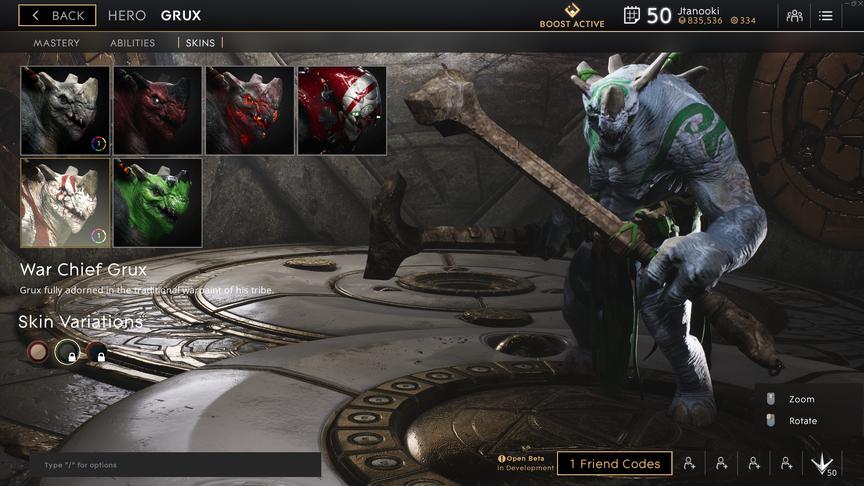 Grux Emerald War Chief skin